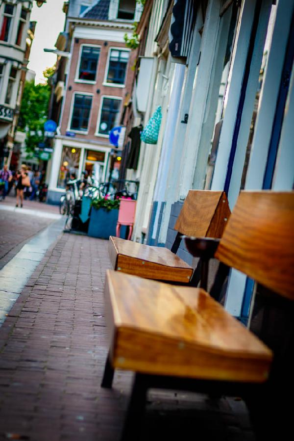 Streets of Amsterdam. Benches.